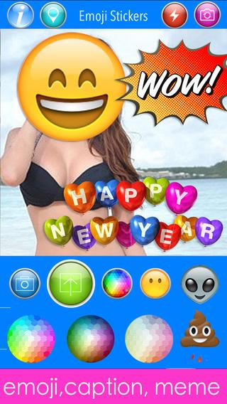 Emoji Stickers Camera Photo Effects + Camera + Stickers + Emoji + Fun Words Meme