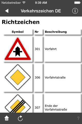 Verkehrszeichen DE screenshot 4