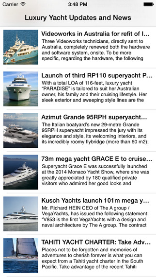 Luxury Yacht Updates and News