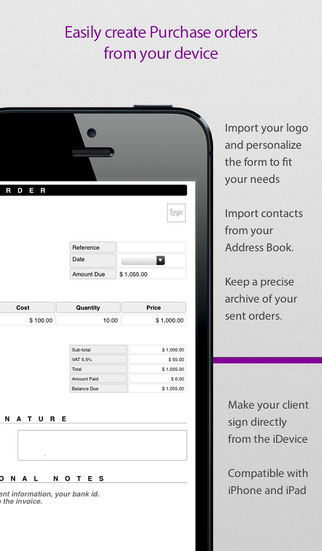 Order Form Intuitive PDF pad for Sales Purchases and Work