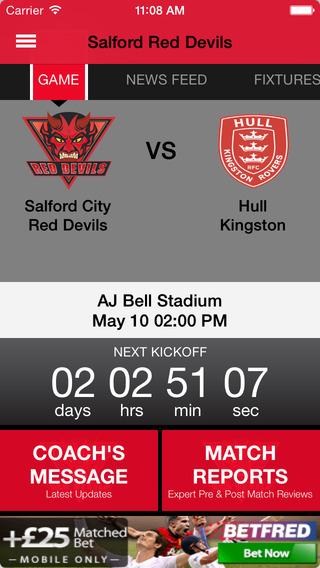 Salford Red Devil's Official App