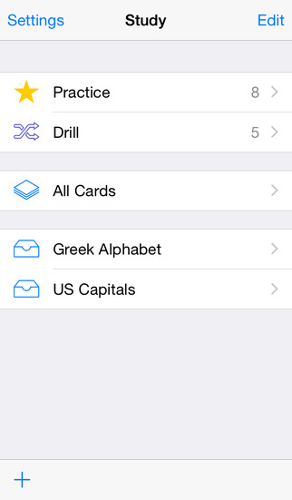 Study Flashcards for iPhone iPhone Screenshot 2