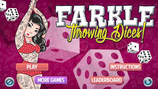Farkle Throwing Dices