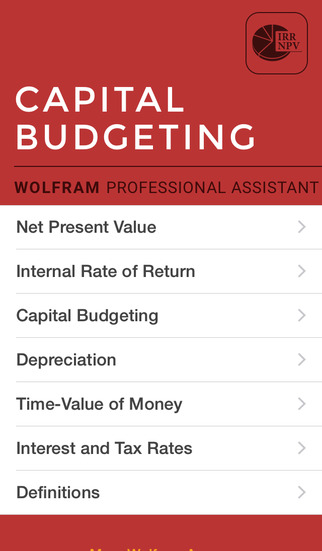 Wolfram Capital Budgeting Professional Assistant