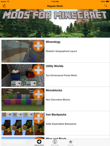 Mods for Minecraft Screenshots