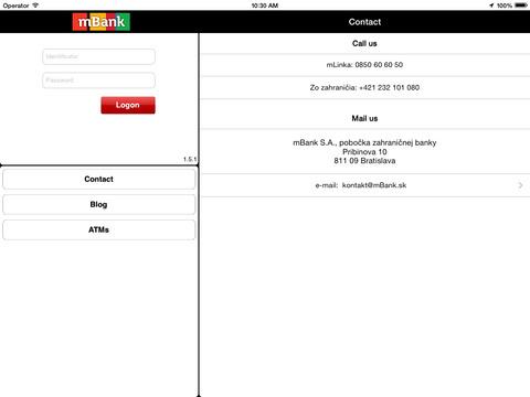 mBank SK for iPad