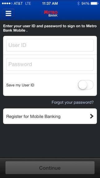 Metro Bank Mobile Banking