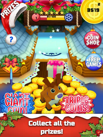 Christmas Coin Pusher Dozer Dropper 3D for iPad