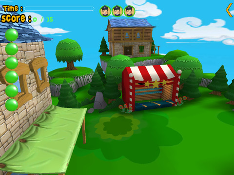 horses carnival shooting for kids iPad Screenshot 1
