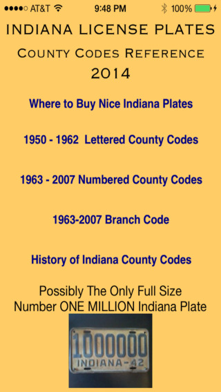 Indiana License Plate County Codes
