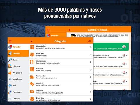 MosaLingua Francés: Aprender Francés rápidamente (Español ► Francés) iPad Screenshot 4