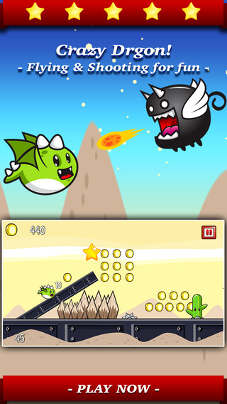 Aaron Dragon Hunter PRO - Tap the flying dash to line up in sky and fight with epic enemies