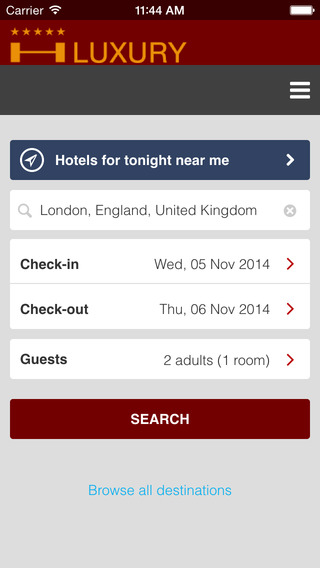 Luxury Hotel + Find Best Hotels for Tonight