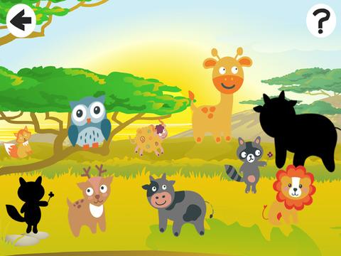 Активный! Shadow Игра Для Детей, Чтобы Учиться И Играть С Животными Мира