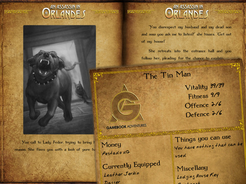 Gamebook Adventures 1: An Assassin in Orlandes iPad Screenshot 2