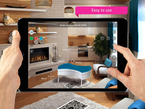 Fingo furniture augmented reality interior app for Room design 3d app