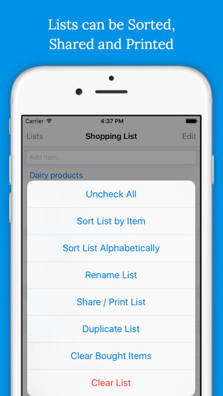 Shoppylist - Grocery List Screenshots