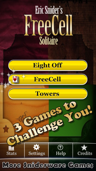 FreeCell Solitaire! iPhone Screenshot 1
