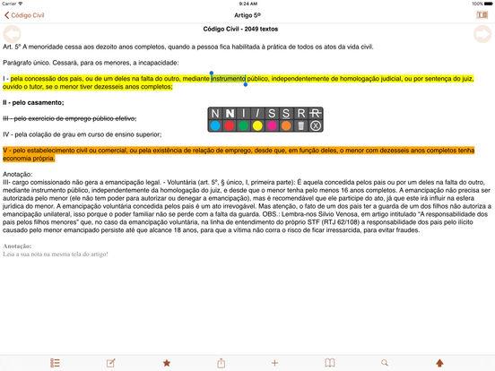 Vade Mecum Free Direito Brasil iPad Screenshot 3