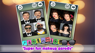 Makeup Transformation Photo Editor : Attractive Celebrity Parody Crop-per Effect-s Скриншоты3