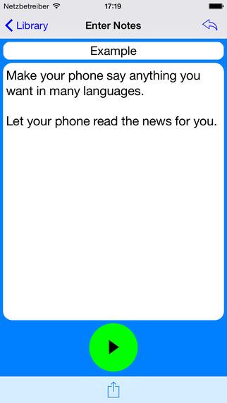 Talk Text To Voice