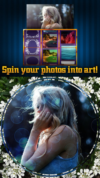 Pic Spin - Easily apply random layers to superimpose yr picz faster with this quirky slot machine aj