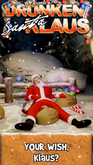 Drunken Santa Klaus iPhone Screenshot 1