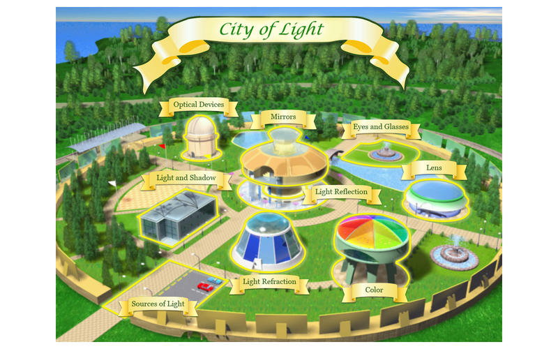 STEM Islands. City of Light. Optics