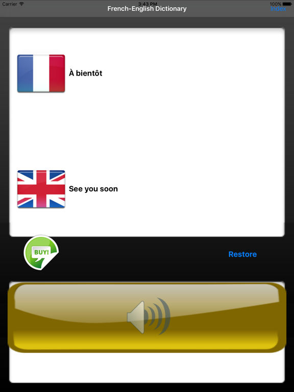 Audio French-English Dictionary Screenshots