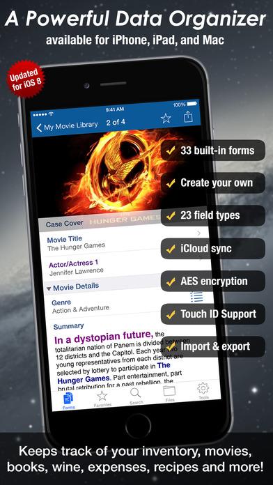 Tap Forms Database Lite iPhone Screenshot 1