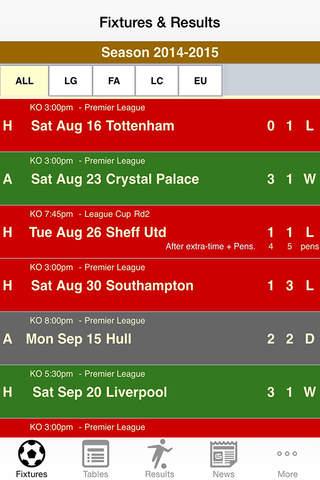 SoccerDiary - West Ham Edition screenshot 2