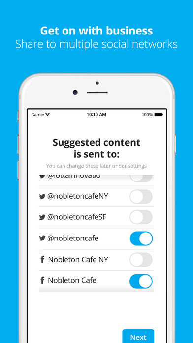 Suggestions by Hootsuite: Find, schedule and share the latest news content screenshot