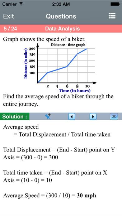 6 SAT Practice Tests (Math) iPhone Screenshot 3