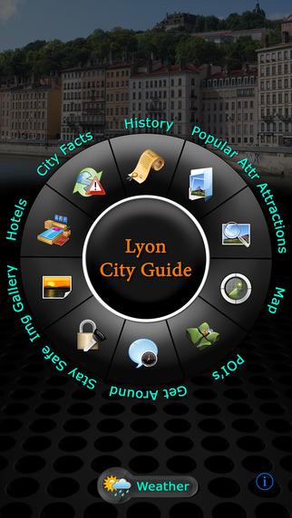 Lyon Offline Map Travel Guide