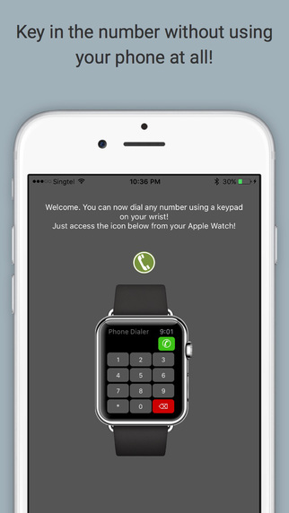 Watch Dialer - the numeric and international keypad phone dialer for your Apple Watch