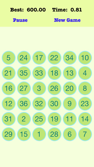 A¹A 36 Numbers Reverse