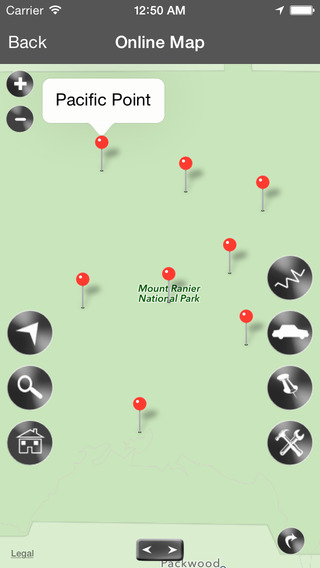 Mount Rainier National Park Map WA