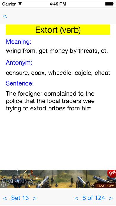 GRE Words iPhone Screenshot 2