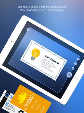 ScanBizCards Lite Business Card Scanner + Reader screenshot