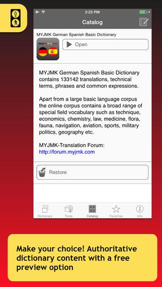 MYJMK German Spanish Basic Dictionary