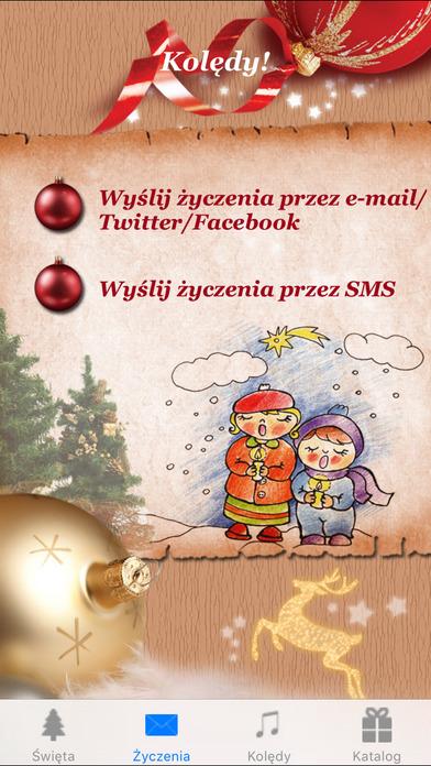 Kolędy, życzenia świąteczne - Boże Narodzenie iPhone Screenshot 1