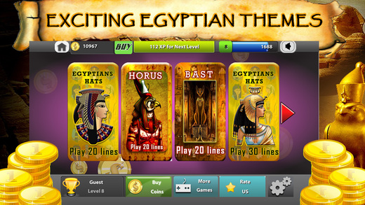 Egyptian Treasure Slots - Casino Frenzy Ceasars Love of Alpha Bonus