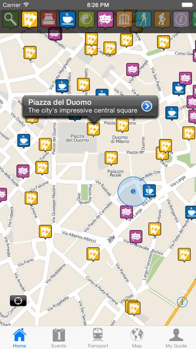 Milan Travel Guide Offline iPhone Screenshot 1