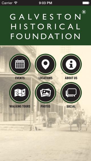 Galveston Historical Foundation Mobile App