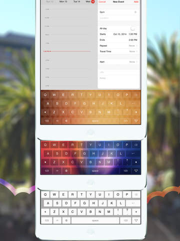 Rainbow — Custom Color Keyboard Themes & Skins Screenshots