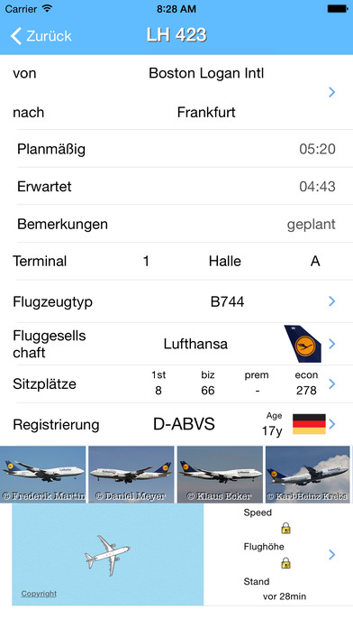 Frankfurt Airport - iPlane Flight Information iPhone Screenshot 2