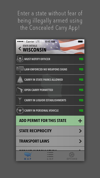 Concealed Carry App - CCW Law and Reciprocity