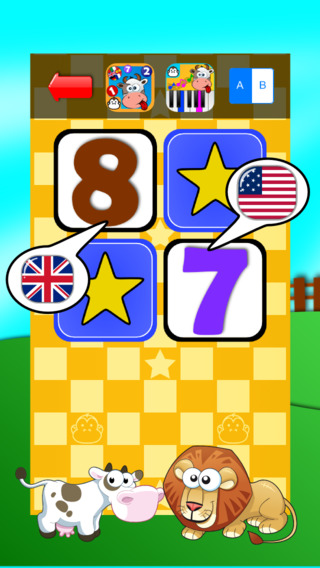 Baby Match Game - Learn the numbers in English