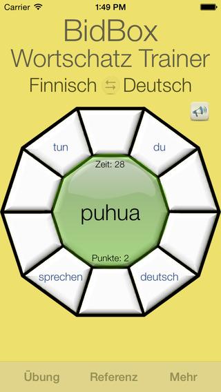 Vocabulary Trainer: German - Finnish iPhone Screenshot 4