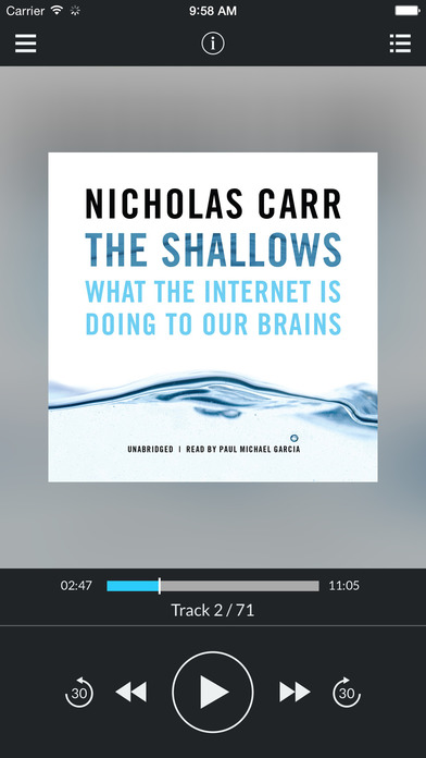 The Shallows (by Nicholas Carr) iPhone Screenshot 1